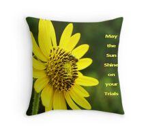 Sunflower Card Throw Pillow