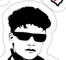 I Love 80's Men Sticker
