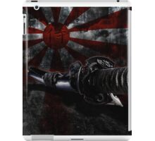Japan grunge wall with sword iPad Case/Skin