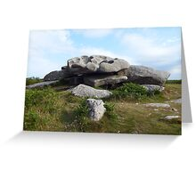 Cup and Saucer Rock Greeting Card