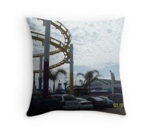 Rides Throw Pillow