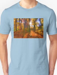 Brilliant, Colorful Autumn Forest Impression T-Shirt