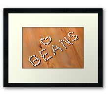 Cannellini Beans Framed Print