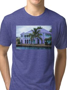 Colorful Shopping Experience on Tortola, British Virgin Islands, BVI  Tri-blend T-Shirt