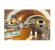 Siena Cafe Art Print