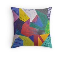 Sections of Expressionism Throw Pillow