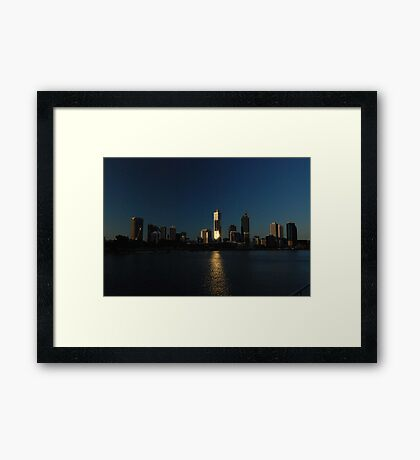 Perth Skyline, Western Australia Framed Print