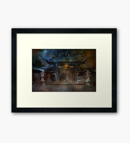 GATE..Asian  Moon. Framed Print