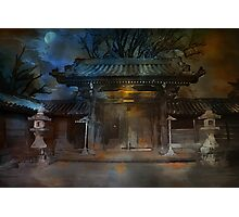 GATE..Asian  Moon. Photographic Print
