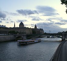 The Seine near the Conciergerie by Brian Middleton