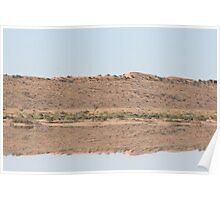 Desert flood reflection... Poster