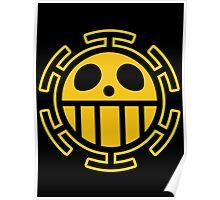 Trafalgar Law Heart Pirates Logo Poster