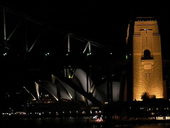 Sydney Opera House and Harbour Bridge by Craig Stronner