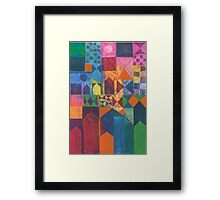 City With Full Moon Framed Print
