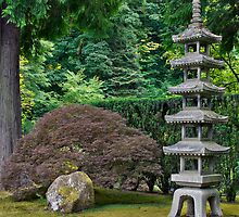 Japanese Stone Pagoda by davidgnsx1