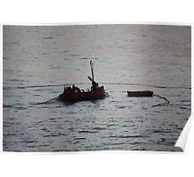 fishermen at sunset Poster
