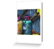 Gas Bottles - Romsey Farm Shed Greeting Card