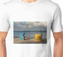Wicker Beach Chairs with a Hood Unisex T-Shirt