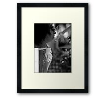 Having a smoke Framed Print