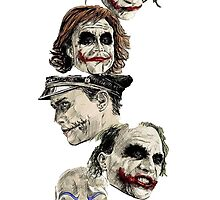 Many Faces of The Joker by bethanyyhelenn