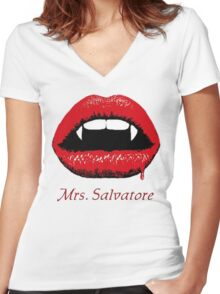 Mrs Salvatore Women's Fitted V-Neck T-Shirt