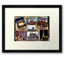 Viva Las Vegas Collage Framed Print