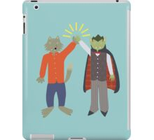 Vampire and Werewolf High Five iPad Case/Skin