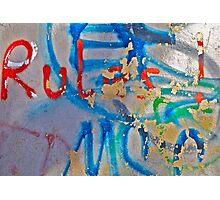 Graffiti . BROWN SUGAR . Views: 727 . thank you friends !!! Photographic Print