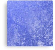 Blue marble effect  Canvas Print