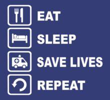 Eat Sleep Save Lives Paramedic Funny Shirt by movieshirtguy