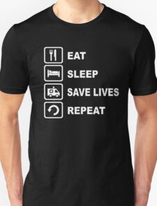 Eat Sleep Save Lives Paramedic Funny Shirt T-Shirt