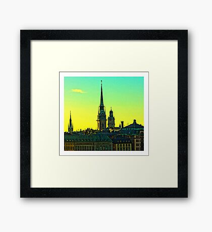 Sunset over Gamla Stan, Stockholm by Tim Constable Framed Print