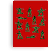 Plastic toy Soldiers. Canvas Print
