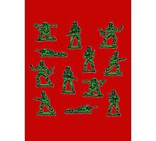Plastic toy Soldiers. Photographic Print