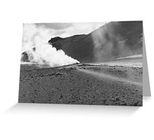 Myvatn Volcanic Vents Greeting Card