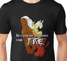 Molotov + Zombies = FIRE. Unisex T-Shirt