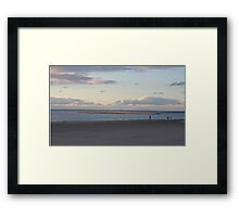 Almost Empty Beach  Framed Print