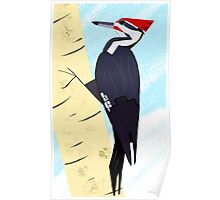 Pileated Woodpecker in Winter Poster