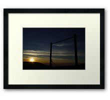 Patterson Pass Sunset Framed Print