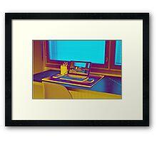 Surreal Laptop Repeating Screen 3 Framed Print