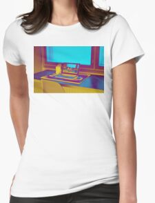 Surreal Laptop Repeating Screen 3 Womens Fitted T-Shirt