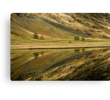 Reflecting on a Loch Canvas Print