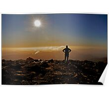 Snowdon Summit Silhouette Poster