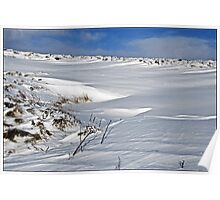 Snowdrifts in the Peak District Poster