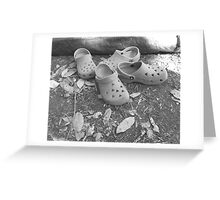 Camping Shoes and a Tent 2 Greeting Card