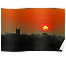 Volcanic Ashcloud Sunset Poster
