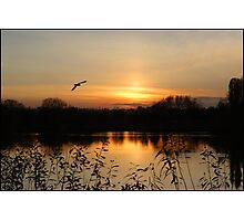 Watermead Sunset  Leicestershire UK. Photographic Print