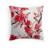 Cherry Blossoms III Throw Pillow