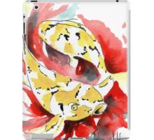 Two Yellow Koi iPad Case/Skin
