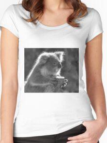 0707 Young Koala  Women's Fitted Scoop T-Shirt